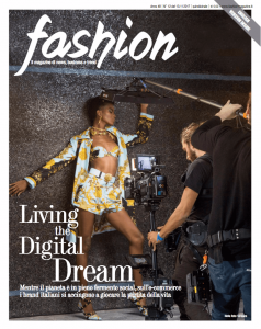 Copertina di Novembre di Fashion Magazine